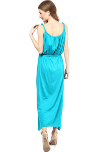 sky blue stylish maternity maxi dress_2