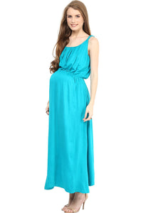 sky blue stylish maternity maxi dress_3