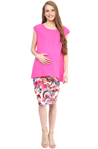 sleeveless maternity top in pink blush color_2