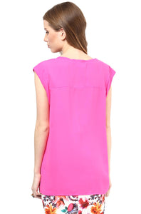 sleeveless maternity top in pink blush color_3