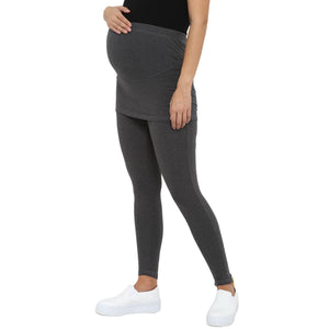 track pants for pregnancy in grey with skirt_5