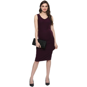 wine color maternity dress with cape_3