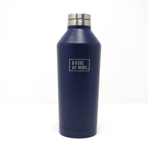 Navy Wine Bottle or Canteen