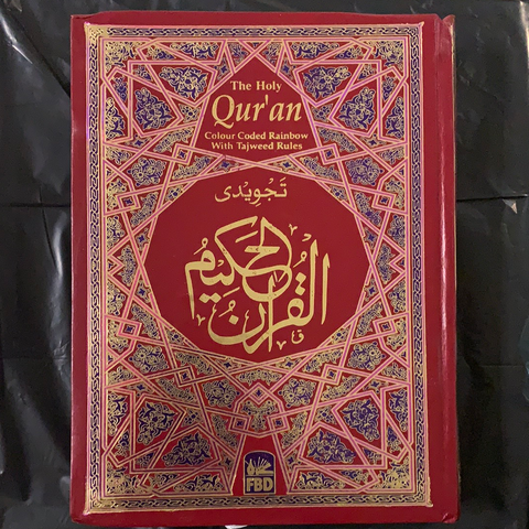 The Holy Qur'an (Color coded Rainbow With Tajweed Rules - Large)
