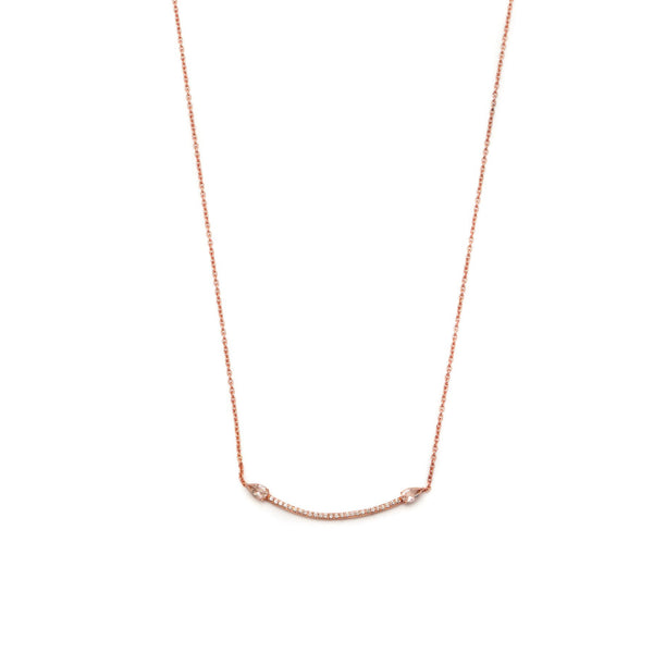 18ct Rose Gold Vermeil Eclipse Necklace with Diamonds & Morganite