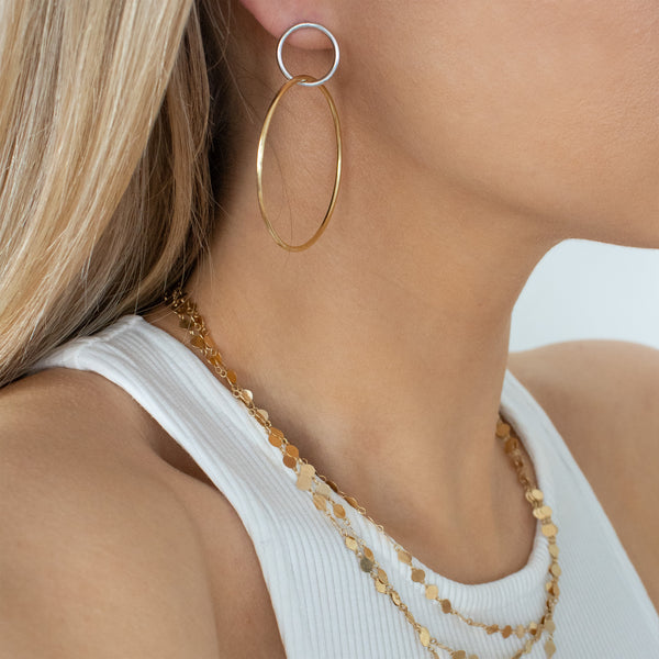 Hotcake Hoop Earrings
