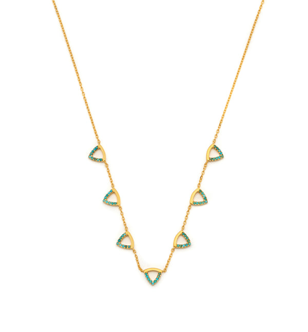 Elements 7 Triangles Necklace