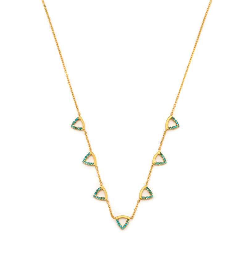 Elements 7 Triangle Necklace