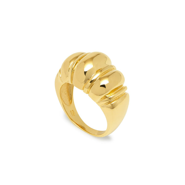 Champagne Ribbed Ring