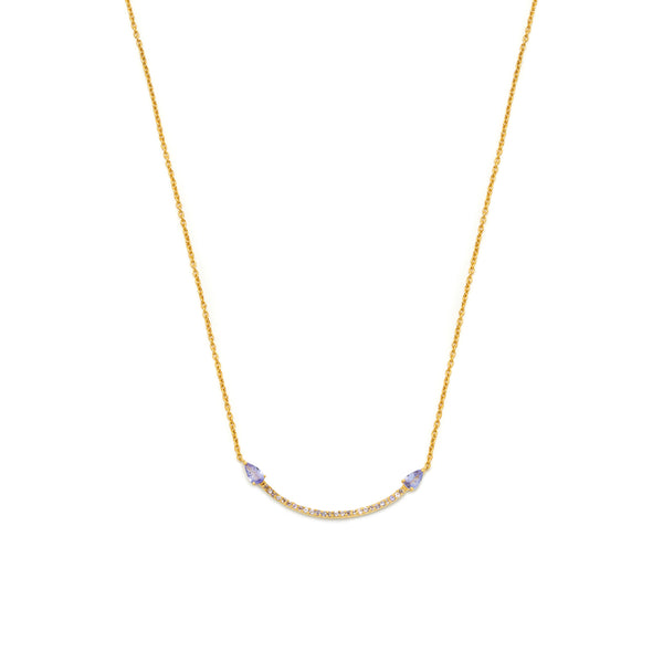 18ct Gold Vermeil & Tanzanite Eclipse Necklace