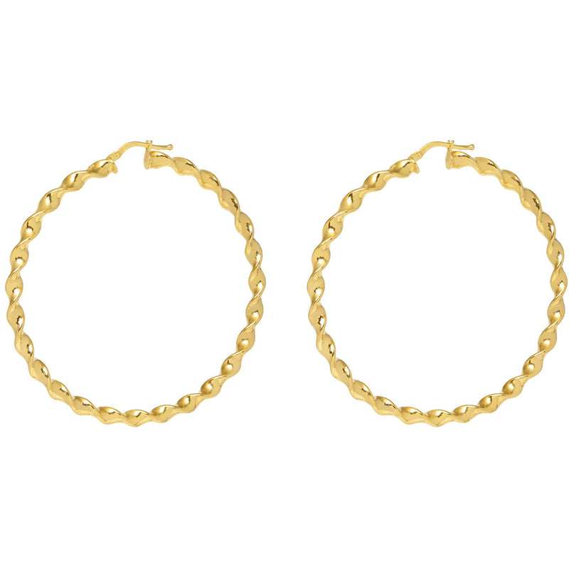 Wavy Big Hoop Earrings