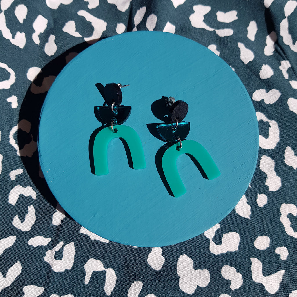 ORLI NO.5 // MATTE BLACK, TEAL MIRROR, JADE