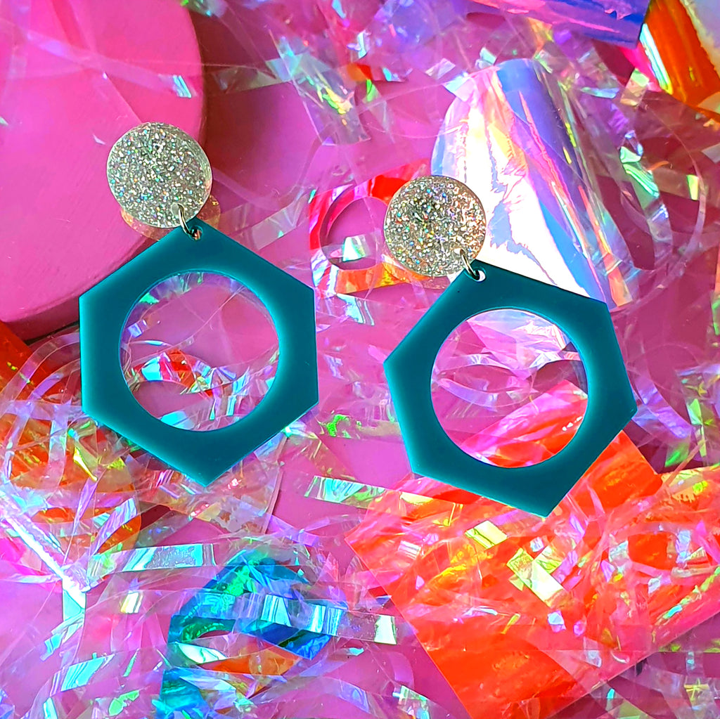 CESIA NO.2 // TEAL & ASSORTED STUDS
