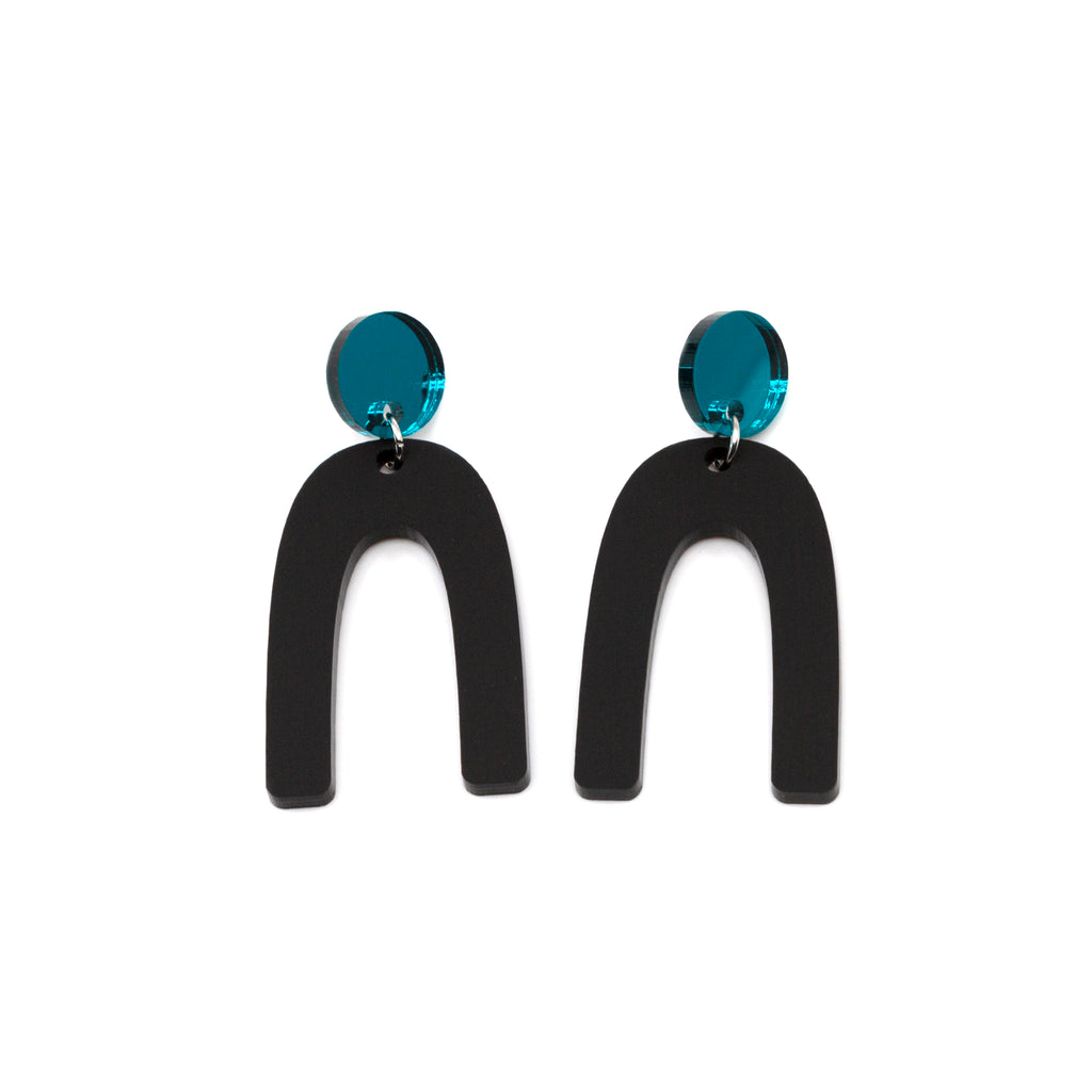 ORLI NO.2 // TEAL MIRROR & MATTE BLACK