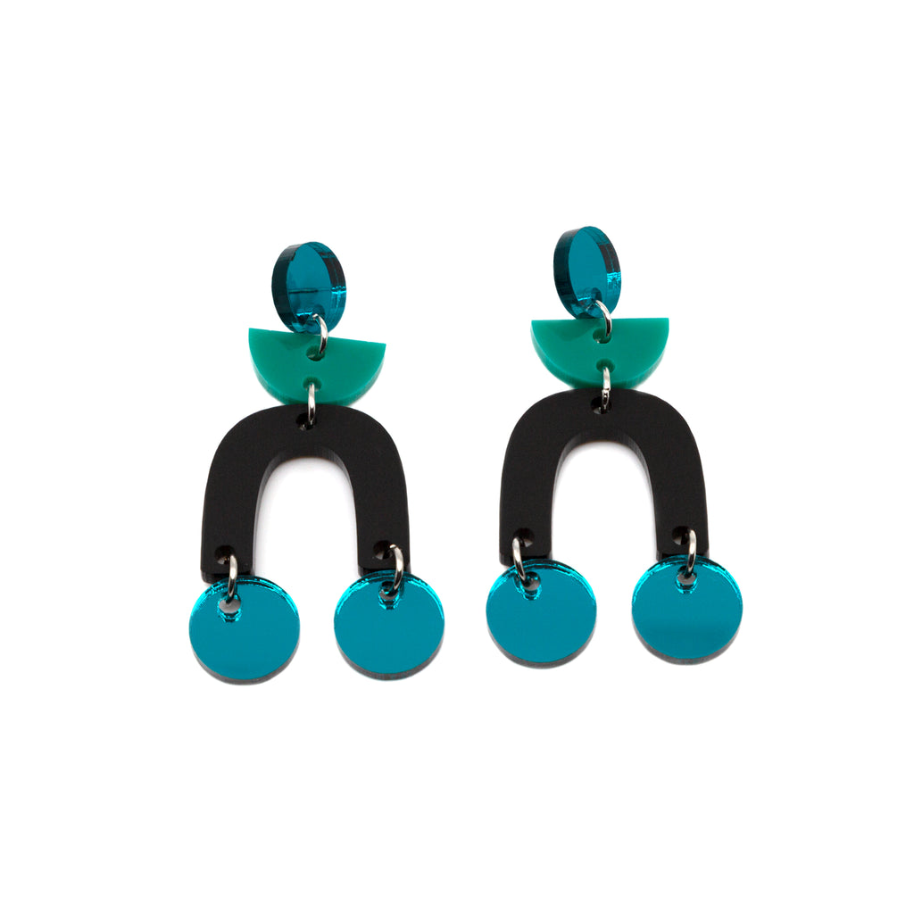 ORLI NO.4 // TEAL MIRROR, JADE, MATTE BLACK