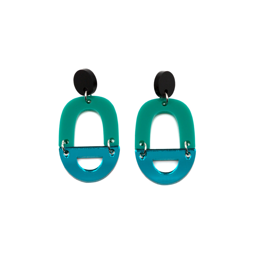 ORLI NO.6 // MATTE BLACK, JADE & TEAL MIRROR