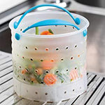 The First Paragraph in the World,Silicone Vegetable Steaming, Washing, Draining and Cooking Basket