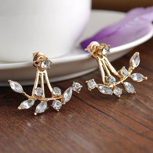 Load image into Gallery viewer, Florence Leaf Crystal Earrings