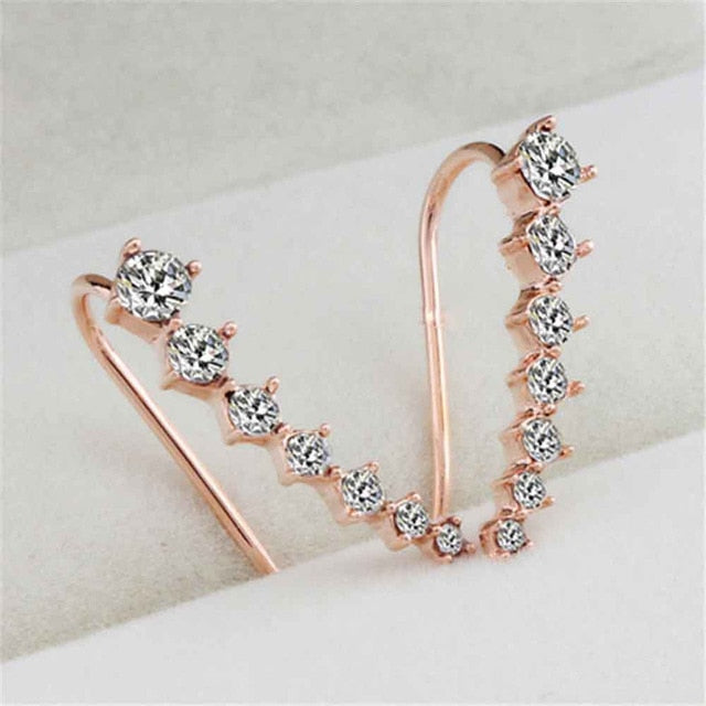 Alice Rhinestone Crystal Earrings