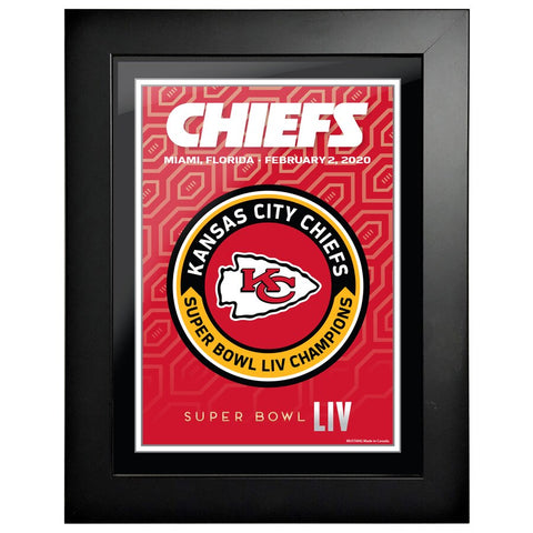 Kansas City Chiefs 12x16 Team Superbowl Framed Artwork