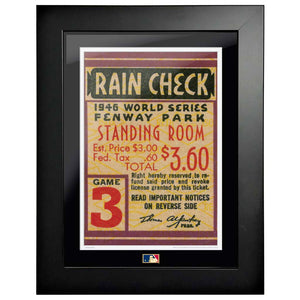 "12""x16"" World Series Ticket Framed Boston Red Sox 1946 G3R"