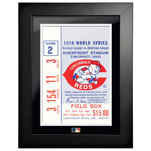 "12""x16"" World Series Ticket Framed Cincinnati Reds 1970 G2L"