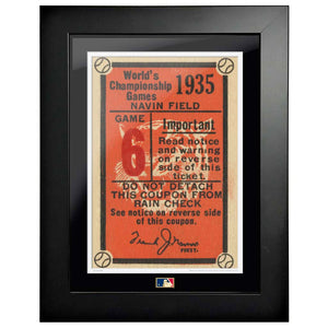 "12""x16"" World Series Ticket Framed Detriot Tigers 1935 G6L"