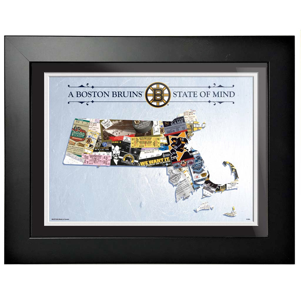 Boston Bruins 12x16 State of Mind Framed Artwork