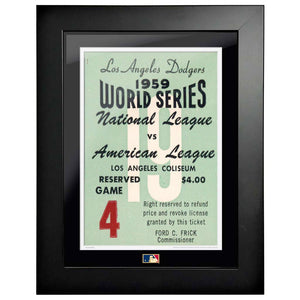 "12""x16"" World Series Ticket Framed Los Angeles Dodgers 1959 G4L"