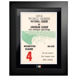 "12""x16"" World Series Ticket Framed Los Angeles Dodgers 1959 G4C"