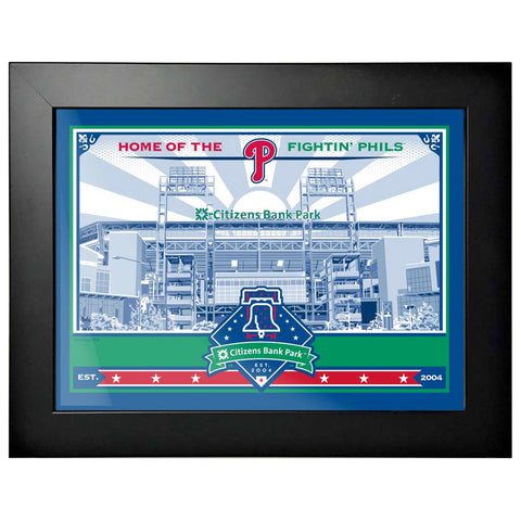 Philadelphia Phillies 12x16 Ballpark Framed Artwork