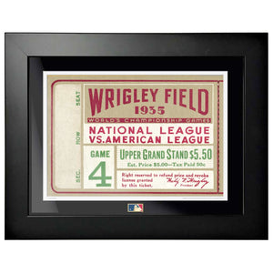 "12""x16"" World Series Ticket Framed Chicago Cubs 1935 G1L"