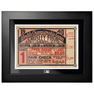 "12""x16"" World Series Ticket Framed Cincinnati Reds 1940 G1R"