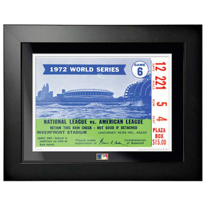 "12""x16"" World Series Ticket Framed Cincinnati Reds 1972 G6R"