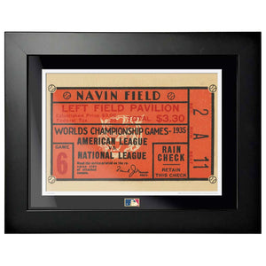 "12""x16"" World Series Ticket Framed Detroit Tigers 1935 G6C"