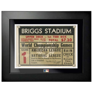 "12""x16"" World Series Ticket Framed Detroit Tigers 1945 G1R"