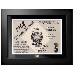 "12""x16"" World Series Ticket Framed Detroit Tigers 1968 G5R"