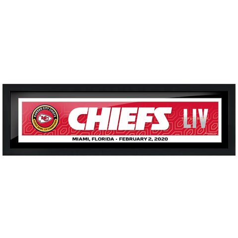 Kansas City Chiefs 6x22 Team Superbowl Framed Artwork