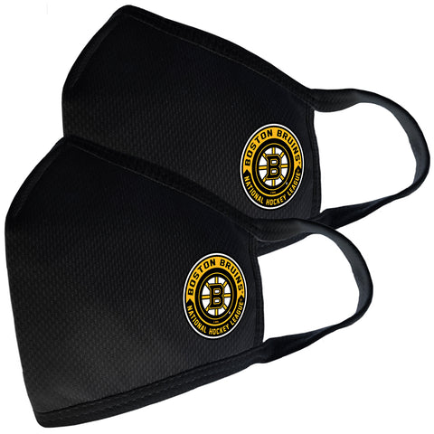 2 Pack Washable Reusable Fabric Face Cover w/Dust Filter Pocket – Boston Bruins