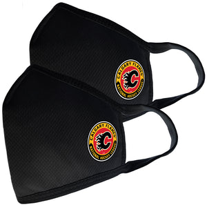 2 Pack Washable Reusable Fabric Face Cover w/Dust Filter Pocket – Calgary Flames