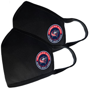 2 Pack Washable Reusable Fabric Face Cover w/Dust Filter Pocket – Columbus Blue Jackets