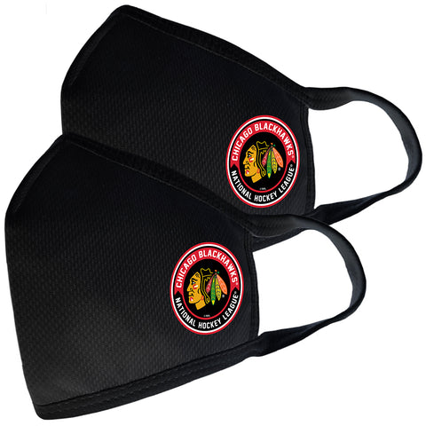 2 Pack Washable Reusable Fabric Face Cover w/Dust Filter Pocket – Chicago Blackhawks