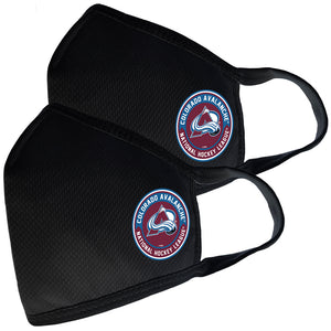 2 Pack Washable Reusable Fabric Face Cover w/Dust Filter Pocket – Colorado Avalanche