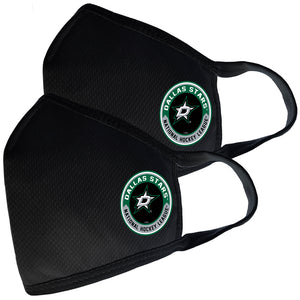 2 Pack Washable Reusable Fabric Face Cover w/Dust Filter Pocket – Dallas Stars