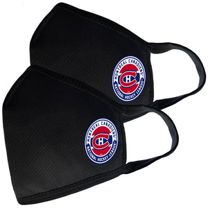 2 Pack Washable Reusable Fabric Face Cover w/Dust Filter Pocket – Montreal Canadiens