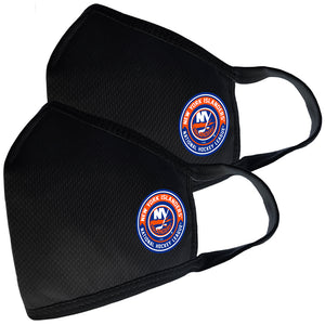2 Pack Washable Reusable Fabric Face Cover w/Dust Filter Pocket – New York Islanders