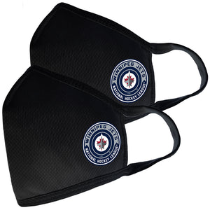 2 Pack Washable Reusable Fabric Face Cover w/Dust Filter Pocket – Winnipeg Jets