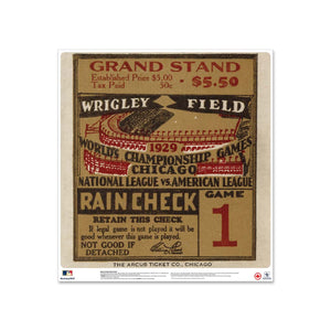 "24"" Repositionable W Series Ticket Chicago Cubs Right 1929G1R"
