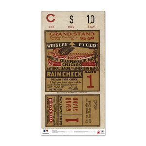 "24"" Repositionable W Series Ticket Chicago Cubs Centre 1929G1C"