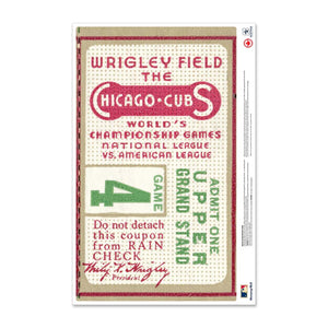 "24"" Repositionable W Series Ticket Chicago Cubs Centre 1935G1C"